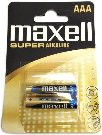 Battery MAXELL Super Alcaline LR03 / AAA / 2pcs /