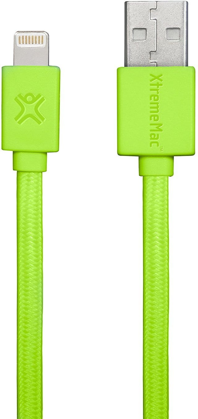 Cable XtremeMac Flat Cable Lightning XCL-USB / Green