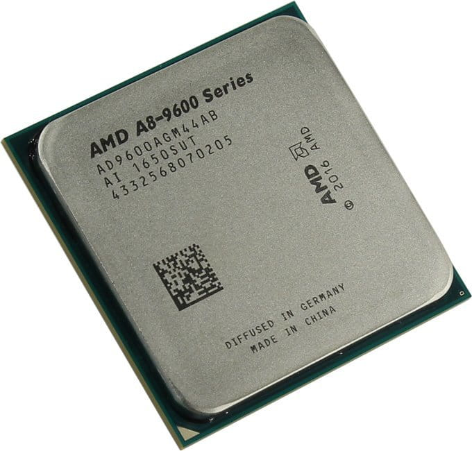 CPU AMD A8-9600 / Socket AM4 / 65W / 28nm / Intergrated Radeon R7 Series / Tray
