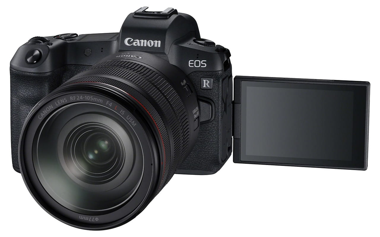 Camera KIT Canon EOS R / Mirrorless Full frame / RF 24-105mm f/4L IS USM / Adapter Canon EOS R for Lenses EF & EF-S / 3075C060 /