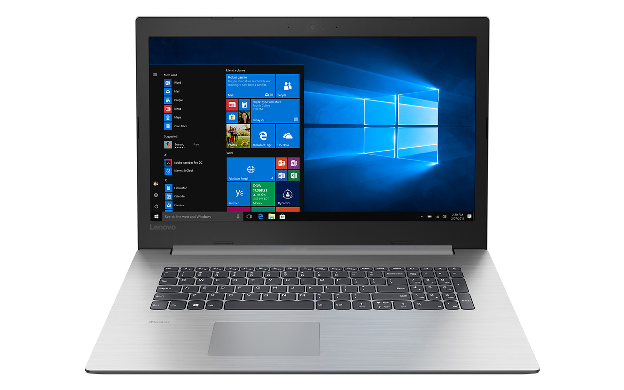 "Laptop Lenovo IdeaPad 330-17IKB / 17.3"" HD+ / Pentium 4415U / RAM 4Gb / 128GB SSD / Intel HD Graphics 610 / FreeDOS / 81DK007GRU / Silver"