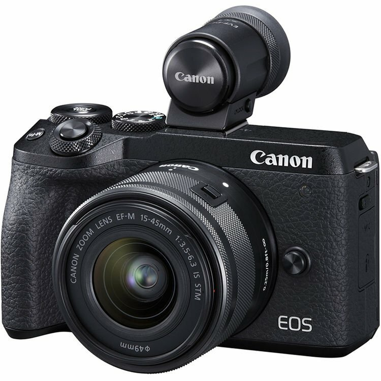 Canon EOS M6 II 15-45 IS STM + EVF-DC2 / Black