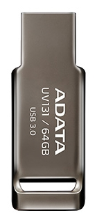 USB ADATA DashDrive UV131 / 64Gb  / AUV131-64G-RGY / Grey