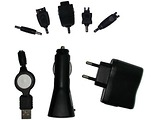 Charger Gembird MP3A-SET2T / 3 in 1 / USB / Car / 220V