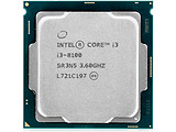 CPU Intel i3-8100 / S1151 / 6MB Cache / 65W / Box / Tray
