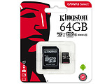 microSDHC Kingston Canvas Select 64GB / SD adapter / 400x / SDCS/64GB