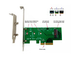LyCOM DT-120 / PCIe 3.0 x4 Host Adapter for M.2 NVMe PCIe SSD 80 / 60 / 42