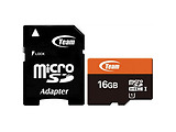 MicroSDHC Team Group 16GB / UHS-I / Class 10 / SD Adapter / TUSDH16GUHS03