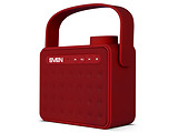 Speakers Sven PS-72 / 6w / Bluetooth / FM / USB / microSD / Li-ion 1200mAh / Red