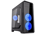 Case GameMax G561-F / ATX / Transparent side panel / 3 x 12cm 32xLeds Red LED Fans / Blue / Red