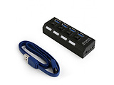 USB 3.0 Hub Gembird UHB-U3P4-22 / 4-port / Black