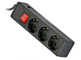 Surge Protector Sven Optima Base / 3 Sockets / 3.0m / Black