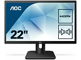 "Monitor AOC 22E1D / 22.0"" FullHD LED / Matte / 2ms / 20M:1 / 250cd / Black"