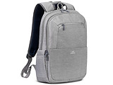 "Backpack Rivacase 7760 Canvas / 16"" / Black / Blue / Red / Grey"