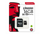 Kingston SDCS2/16GB 16GB microSD Class10 A1 UHS-I + SD adapter Canvas Select Plus