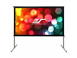 "Elite Screens 100"" 222x125cm Yard Master 2 Dual, Versatile, Outdoor/Indoor True Dual Front/Rear Projection Screen with Stand OMS100H2-DUAL"
