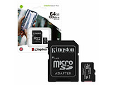Kingston SDCS2/64GB 64GB microSD Class10 A1 UHS-I + SD adapter Canvas Select Plus