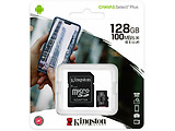 Kingston SDCS2/128GB 128GB microSD Class10 A1 UHS-I + SD adapter Canvas Select Plus
