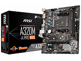 MSI A320M-A PRO MAX / Socket AM4 / AMD A320 / Dual 2xDDR4-3200