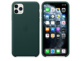 Apple Original iPhone 11 Pro Max Leather Case / Red / Green