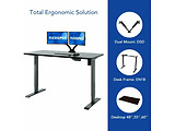 FlexiSpot Adjustable Desk ET114 / Black / White