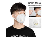 Helmet KN95 Disposable Protective Masks with 5 Layers + Valve