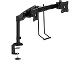 Brateck LDT05-C011D Interactive Dual Monitor Desk Mount / Black