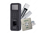 HIKVISION DS-KAS261 Control Terminal Kit / 2.4'' TFT + Fingerprints + Magnetic Lock + Push Button