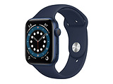 Apple Watch Series 6 GPS 44mm Blue Aluminum Case with Deep Navy Sport Band / Blue