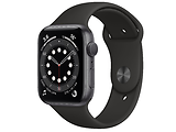 Apple Watch Series 6 GPS 44mm Space Gray Aluminum Case with Black Sport Band / Black