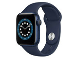 Apple Watch Series 6 GPS 40mm Blue Aluminum Case with Deep Navy Sport Band / Blue