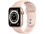 Apple Watch Series 6 GPS 40mm Gold Aluminum Case with Pink Sand Sport Band / Pink