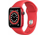 Apple Watch Series 6 GPS 40mm Red Aluminum Case with Red Sport Band / Red