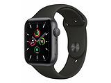 Apple Watch SE 44mm Space Grey Aluminium Case With Black Sport Band / Black