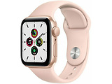 Apple Watch SE 40mm Gold Aluminum Case with Pink Sand Sport Band / Pink