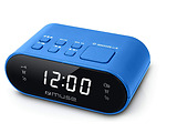 MUSE M-10 / Dual Alarm Clock Radio / Blue / Red / Black