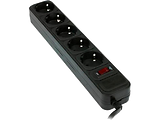 UltraPower UP3-B-6PPB Surge Protector 5 Sockets 1.8m / Black