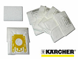 KARCHER Fleece for VC 6xxx / 5 Bags + 1 Filter BONUS / 6.904-329.0