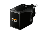 Trust 10W Ultra-Fast USB Wall Charger with QC3.0 / Black
